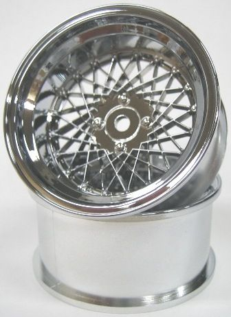DW-1023CS  MESH WHEEL Reinforced Version OFFSET3 CROME SILVER