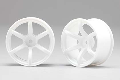 RP-6213W8  Racing Performer Drift Wheel 6 Spoke 02 (8 mm Offset / White)