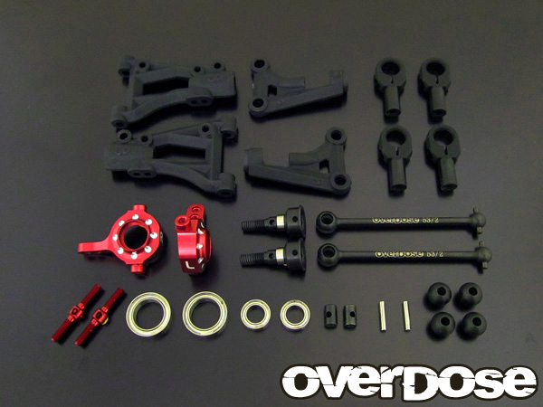 OVERDOSE OD1617 Suspension Kit Front A arm (for Vacula / Red)