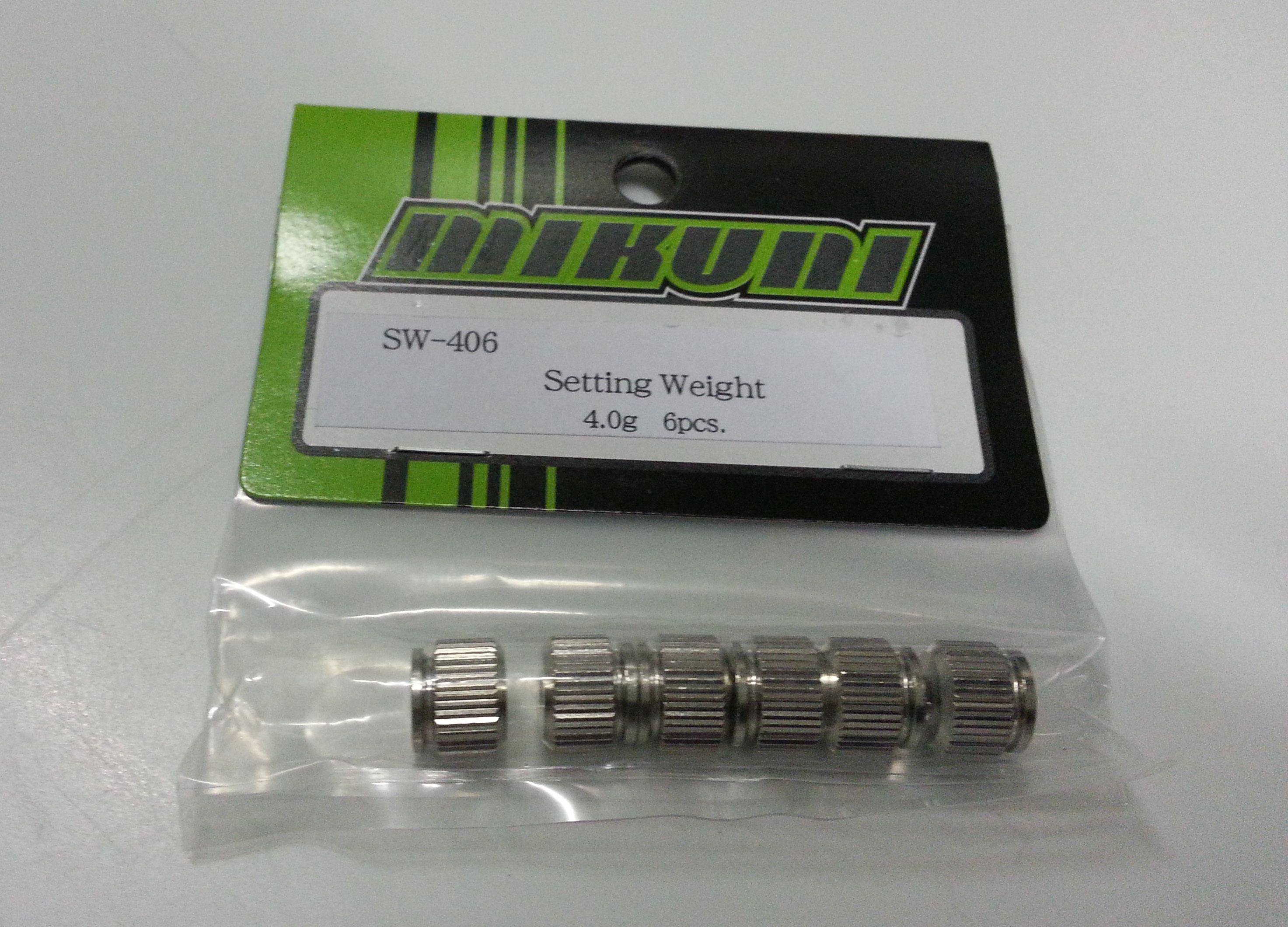 SW-406 Setting weight 4g (6pcs)