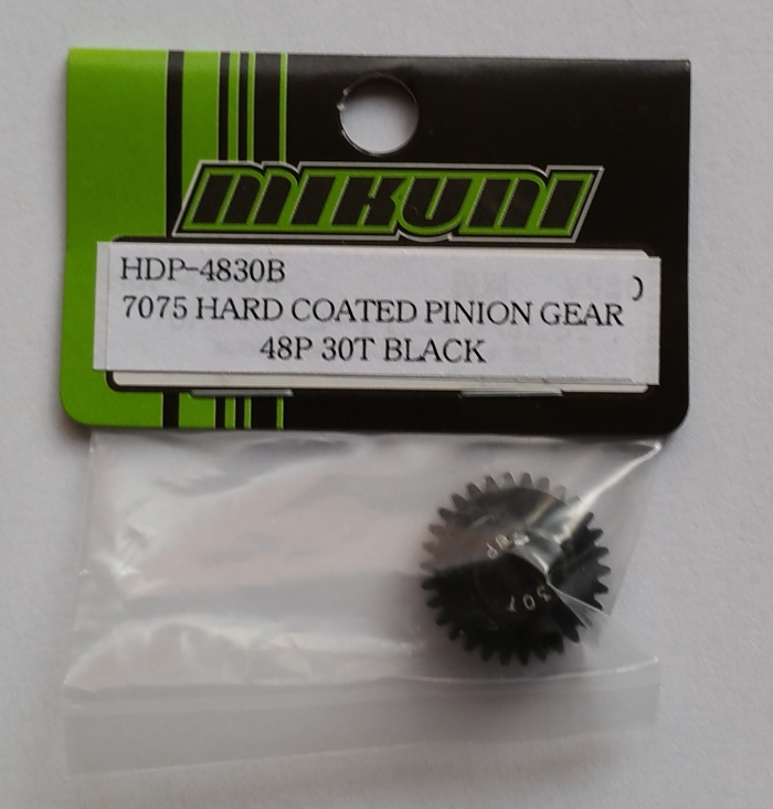 7075 HARD COATED PINION GEAR 48P 30T BLACK