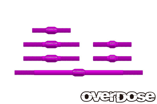 OVERDOSE OD2366 Aluminum Turnbuckle Set (For OD/Purple)