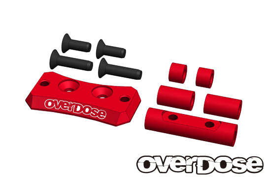 OVERDOSE OD2442 Aluminum Cooling Fan Mount (For Vacula 2, GALM/Red)