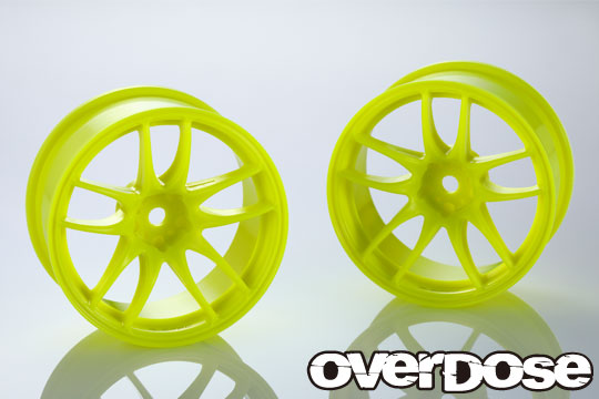 OVERDOSE OD2539 R-SPEC WORK EMOTION CR Kiwami(Fluor.Yellow/OFF+5)ODxYEDA Collab.
