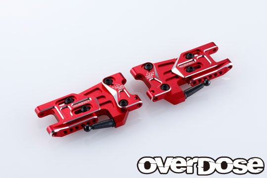 OVERDOSE OD2496 Adjustable Alu. Rear Suspension Arm Type-2 (For OD / Red)