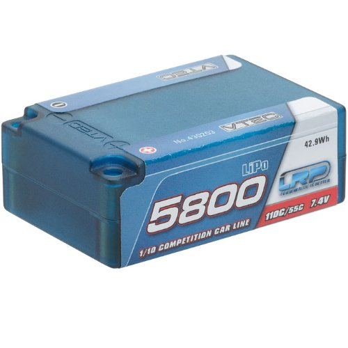 LRP LiPo 5800mAh 7.4V 55/110C Saddle Pack