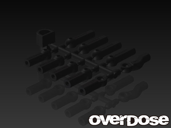 OVERDOSE OD1586 HD Ball End Cap Set (Black)