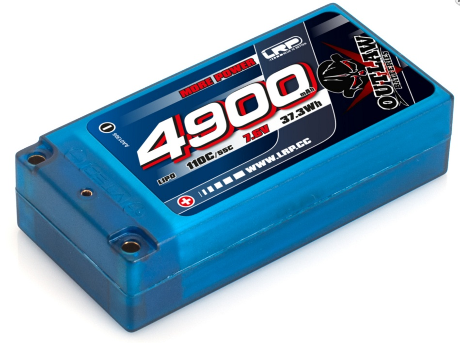 LRP 4900 - Shorty - 110C/55C - 7.6V LiPo - 1/10 Outlaw Car Line Hardcase