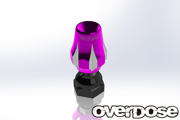 OVERDOSE OD1780  Aluminum Antenna Post Type-3 (Purple)