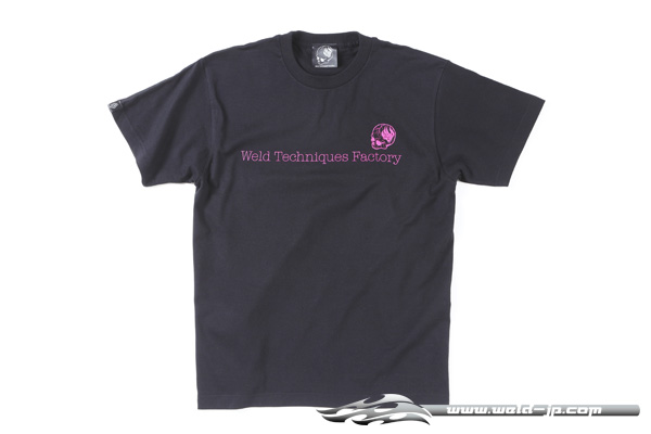 OVERDOSE ODW027  Weld T-shirt color / black (pink logo) size / XL