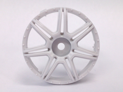 "TT-7565  ""Super RIM"" DISC ""Marguerite"" Heavy WHITE 2pcs"
