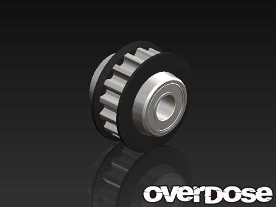 OVERDOSE OD1435 Center Oneway Pulley 16T (for Vacula/Black)
