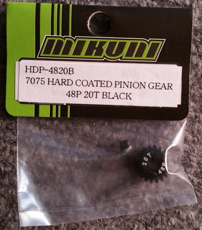 7075 HARD COATED PINION GEAR 48P 20T BLACK