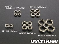 OVERDOSE OD1066 Friction Ball Bearing Low 3X6x2.5Mm Flanged (4Pcs)