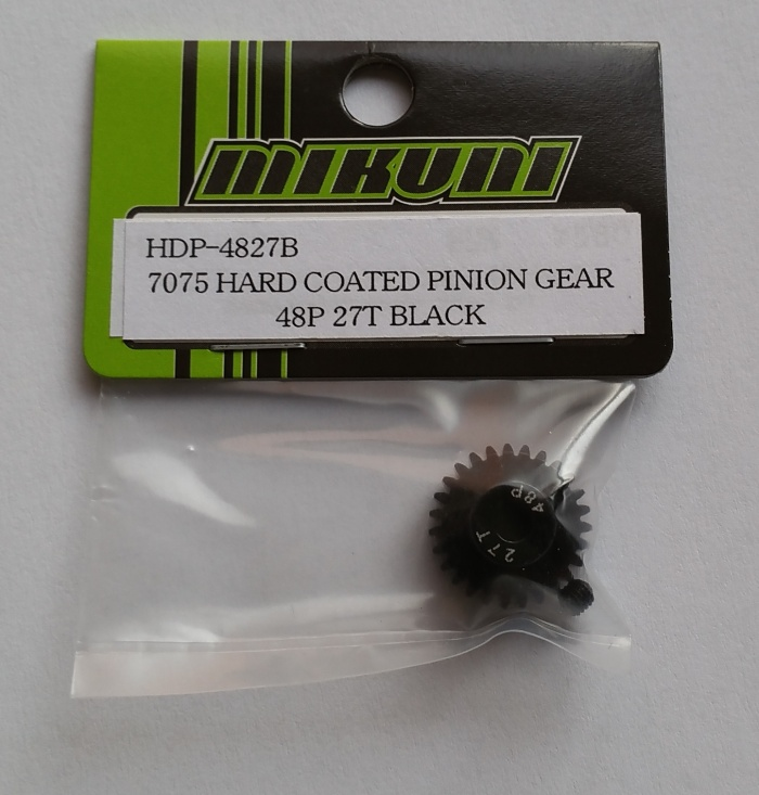 7075 HARD COATED PINION GEAR 48P 27T BLACK