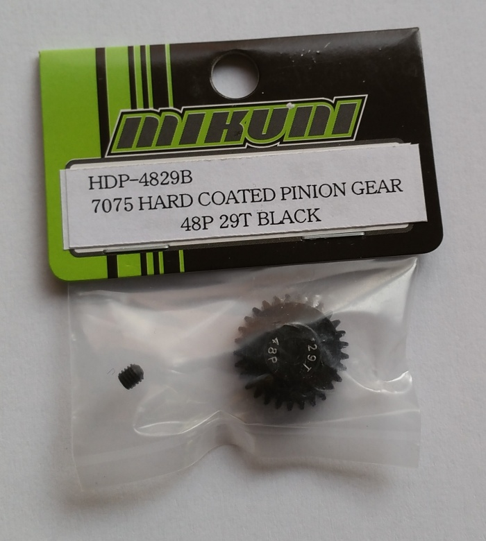 7075 HARD COATED PINION GEAR 48P 29T BLACK