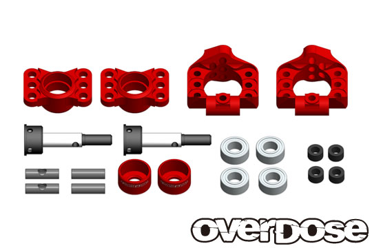 OVERDOSE OD2278  Adjustable Aluminum Rear Upright (For OD, YD-4, YD-2 / Red)