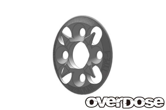 OVERDOSE OD1658 Spur Gear Support Plate Type-4 (Silver)
