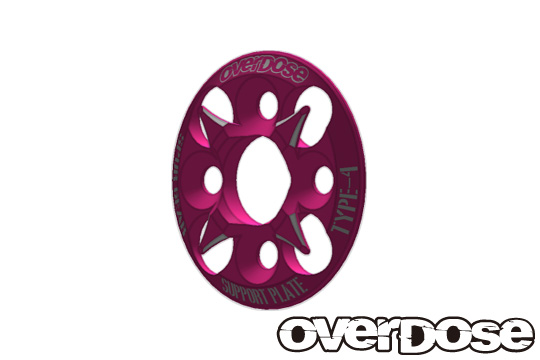 OVERDOSE OD1659 Spur Gear Support Plate Type-4 (Pink)