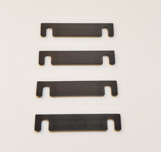 YEDA Suspension Mount Spacer 1mm (for Yokomo YD series, Black, 4 pcs)