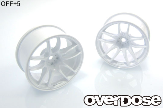 OVERDOSE OD2476 R-SPEC WORK EMOTION CR Kiwami (White/OFF+5)