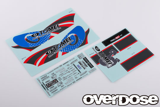 OVERDOSE  OD2530 TEAM Kenji with TOMEI POWERED Graphic Decal Set