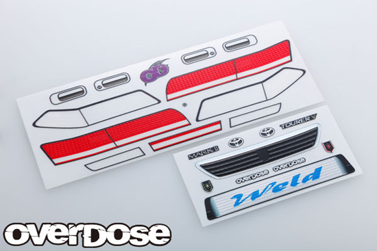 OVERDOSE OD1637  3D graphic series / OD Mark 2 Light & grill emblem set