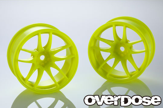 OVERDOSE OD2540 R-SPEC WORK EMOTION CR Kiwami(Fluor.Yellow/OFF+7)ODxYEDA Collab.