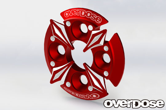 OVERDOSE OD2669 Spur Gear Support Plate Type-5 (Red)
