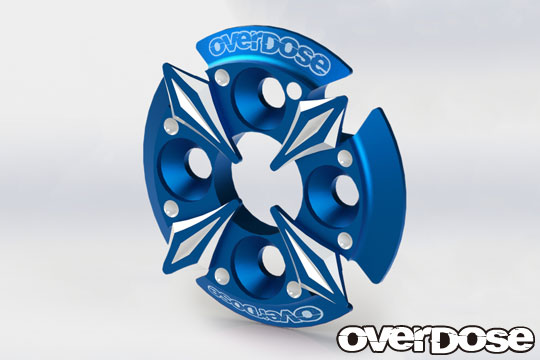 OVERDOSE OD2668 Spur Gear Support Plate Type-5 (Blue)