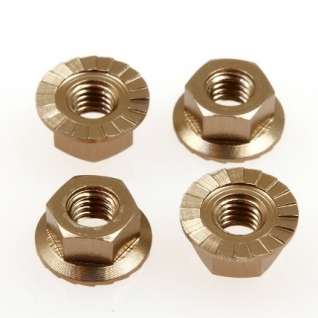 Hiro Seiko 4mm Alloy Serrated Wheel Nut (Titan-4pcs)