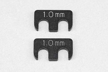 Y2-008RA6 Aluminum adjust shim (1.0mm/2pcs) for YD-2/YD-4