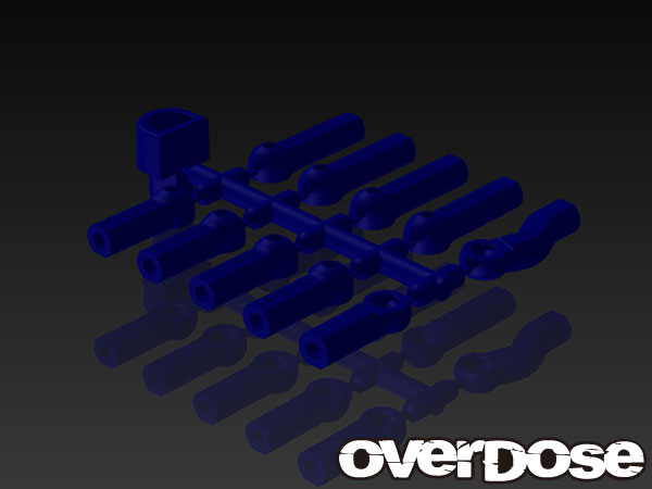 OVERDOSE OD1582 HD Ball End Cap Set (Blue)