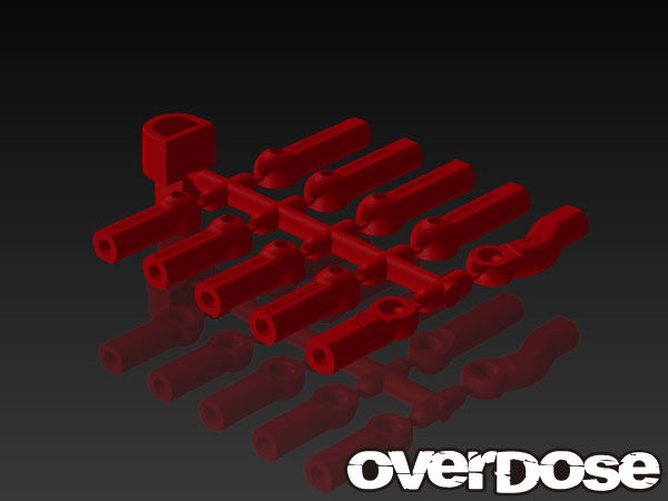 OVERDOSE OD1584 HD Ball End Cap Set (Red)