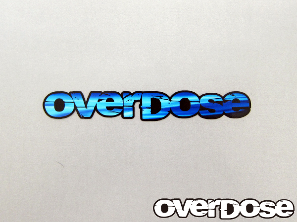 OVERDOSE OD1329 large blue sticker