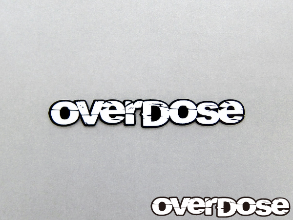 OVERDOSE OD1327 large white sticker