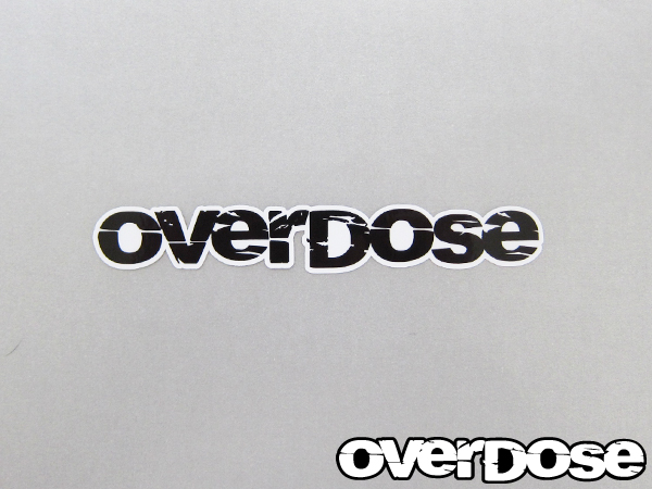 OVERDOSE OD1328 large black sticker