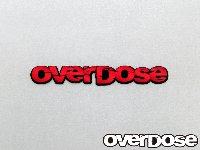 OVERDOSE OD1330 large red sticker