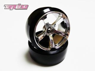 DRS-071MC  DRS-5 WHEEL OFFSET7 MATTE CHROME