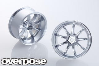 OVERDOSE OD1716  WORK EMOTION D9R (mat chrome / OFF + 5)