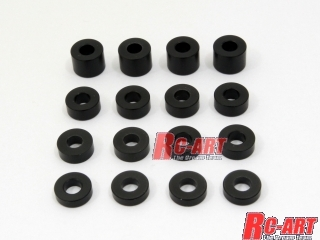 ART2233 Inner diameter 3.0mm Delrin spacer Black (2; 2.5; 3; 5 mm) Each 4 pieces