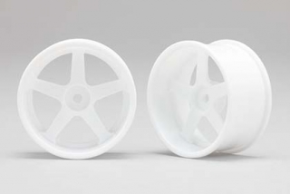 RP-6113W8  Racing Performer Drift Wheel 5 Spokes (8 mm Offset / White)