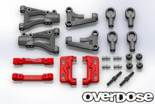 OVERDOSE OD1691 Front A Arm & Mount Set (for DIB/Red)