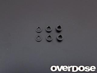 OVERDOSE OD1249 φ2.5 spacer set (1mm, 2mm, 3mm each 2 sheets)
