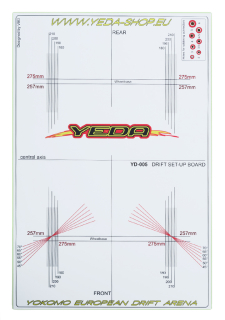 YEDA Set-up board for 1/10 Drift Cars (LPB , white/green)