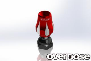 OVERDOSE OD1781  Aluminum Antenna Post Type-3 (Red)