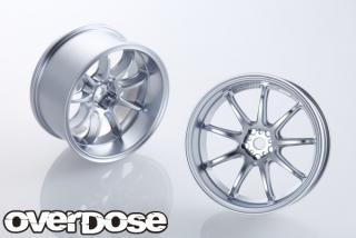 OVERDOSE OD1719  WORK EMOTION D9R (mat chrome / OFF + 7)