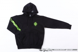 OVERDOSE ODW054  Weld Hoodie color / black × green size / XL