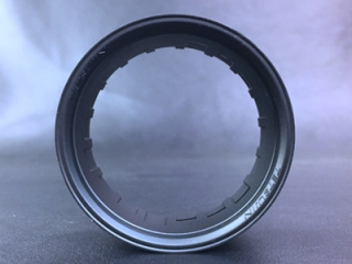 "TT-7535  ""Super RIM"" RIM type 01 Matte BLACK 2pcs"