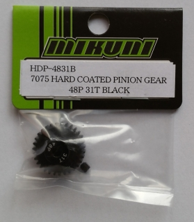 7075 HARD COATED PINION GEAR 48P 31T BLACK